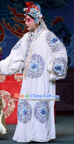 The Butterfly Chalice Chinese Bangzi Opera Xiaosheng Apparels Costumes and Headpieces Traditional Hebei Clapper Opera Swordsman Garment Young Male Tian Yuchuan Clothing