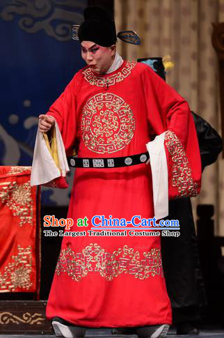 Chen Sanliang Chinese Bangzi Opera Official Apparels Costumes and Headpieces Traditional Hebei Clapper Opera Young Male Garment Magistrate Li Fengming Clothing