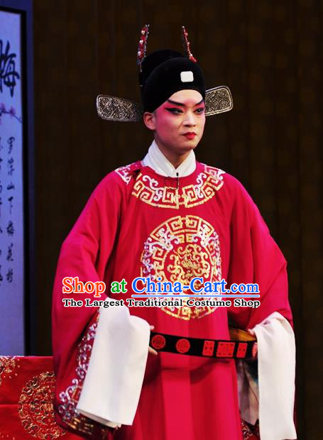 Xi Rong Gui Chinese Bangzi Opera Xiaosheng Apparels Costumes and Headpieces Traditional Hebei Clapper Opera Niche Garment Number One Scholar Zhao Tingyu Clothing