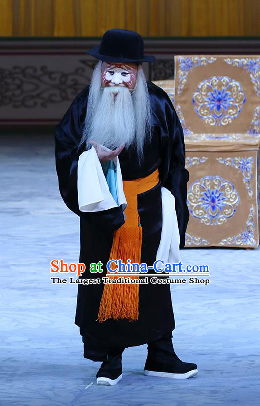 In Extremely Good Fortune Chinese Bangzi Opera Elderly Male Apparels Costumes and Headpieces Traditional Hebei Clapper Opera Clown Garment Qiao Fu Clothing