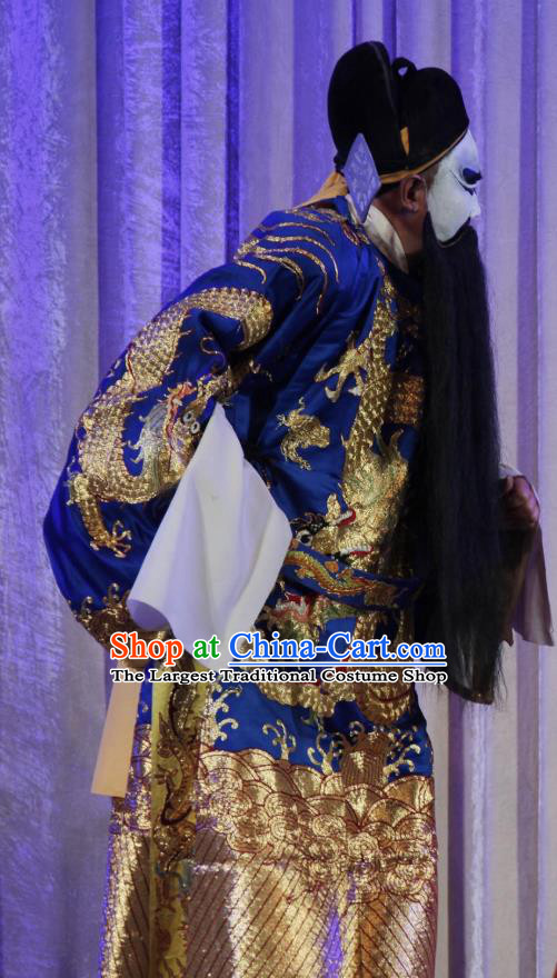 Chinese Bangzi Opera Jing Role Apparels Costumes and Headpieces Traditional Shanxi Clapper Opera Elderly Male Garment Official Clothing