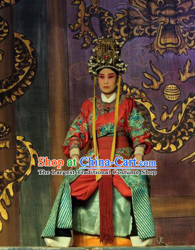 Xiang Luo Hen Chinese Bangzi Opera King Apparels Costumes and Headpieces Traditional Shanxi Clapper Opera Emperor Garment Clothing