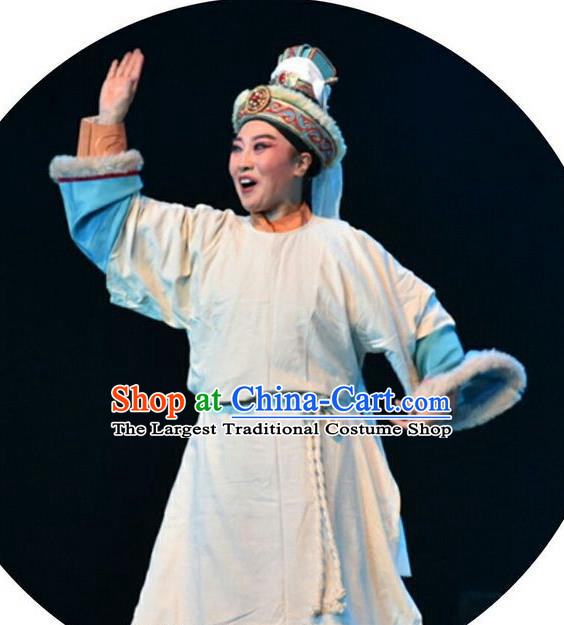 Ping Cheng Fu Chinese Bangzi Opera Crown Prince Tuoba Jun Apparels Costumes and Headpieces Traditional Shanxi Clapper Opera Young Male Garment Xiaosheng Clothing