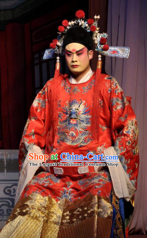 The Pearl Pagoda Chinese Bangzi Opera Xiaosheng Apparels Costumes and Headpieces Traditional Shanxi Clapper Opera Niche Garment Number One Scholar Fang Qing Clothing