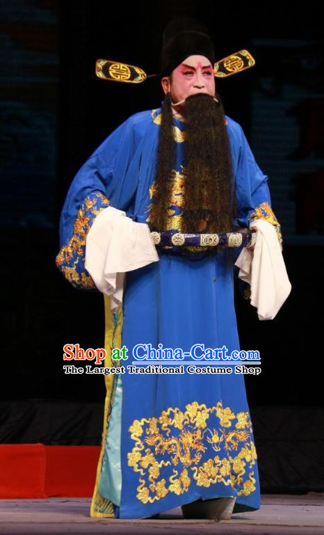 Pan Yang Song Chinese Bangzi Opera Jing Apparels Costumes and Headpieces Traditional Shanxi Clapper Opera Elderly Male Garment Official Clothing