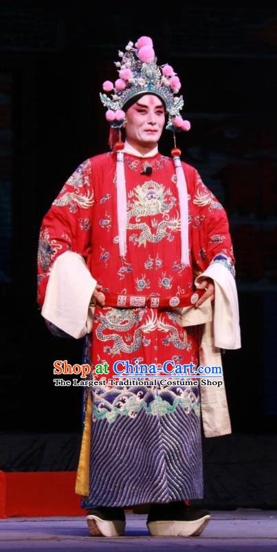 Pan Yang Song Chinese Bangzi Opera Lord Apparels Costumes and Headpieces Traditional Shanxi Clapper Opera Zhao Defang Garment Royal Highness Clothing