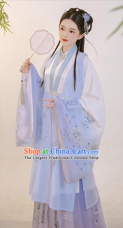 Chinese Ancient Royal Infanta Embroidered Hanfu Dress Apparels Traditional Ming Dynasty Nobility Lady Historical Costumes Complete Set for Rich Female