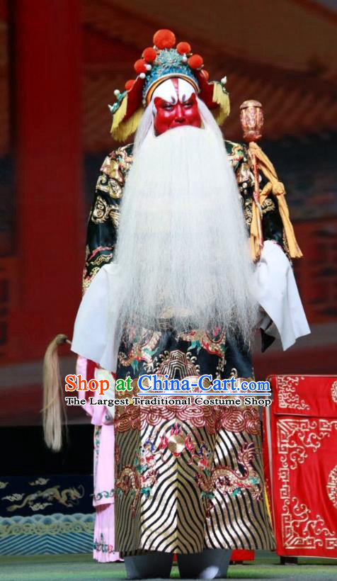 Er Jin Gong Chinese Bangzi Opera Lord Xu Yanzhao Apparels Costumes and Headpieces Traditional Shanxi Clapper Opera Elderly Male Garment Duke Clothing