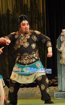 Loyal To Imperial Family Chinese Bangzi Opera Wusheng Hu Yanqing Apparels Costumes and Headpieces Traditional Shanxi Clapper Opera Martial Male Garment Takefu Clothing