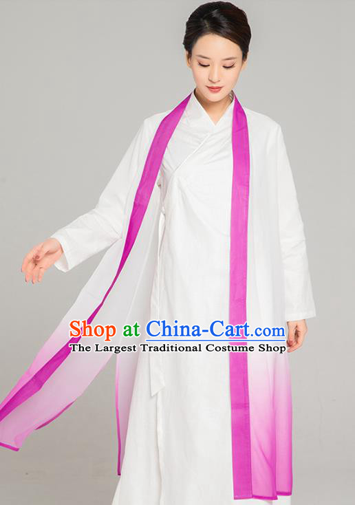 Asian Chinese Traditional Tang Suit Rosy Chiffon Cloak Martial Arts Costumes China Kung Fu Upper Outer Garment Cardigan for Women