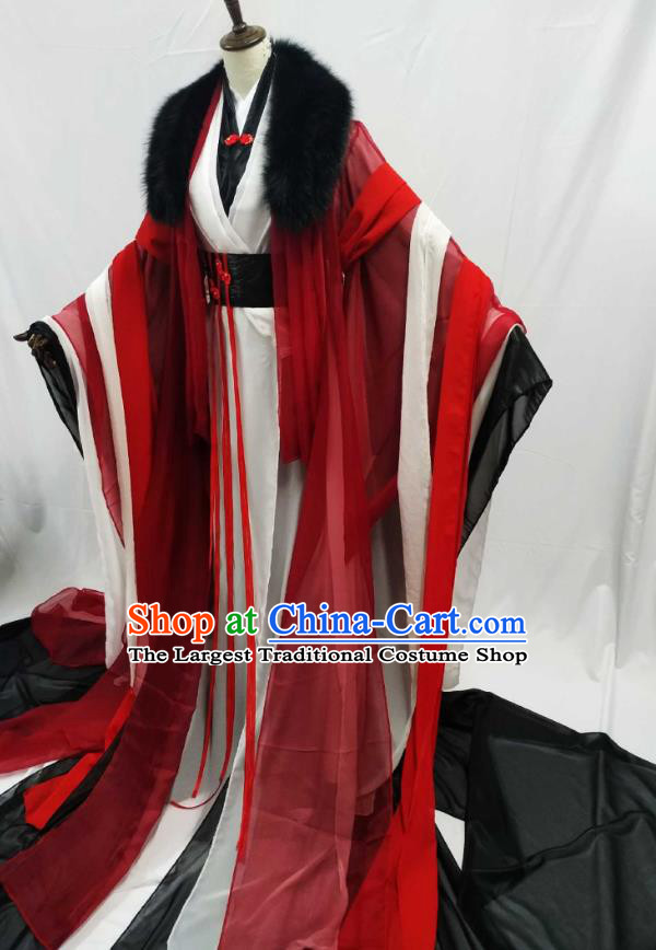 Top Chinese Cosplay King Wedding Costume Ancient Swordsman Royal Highness Clothing for Men