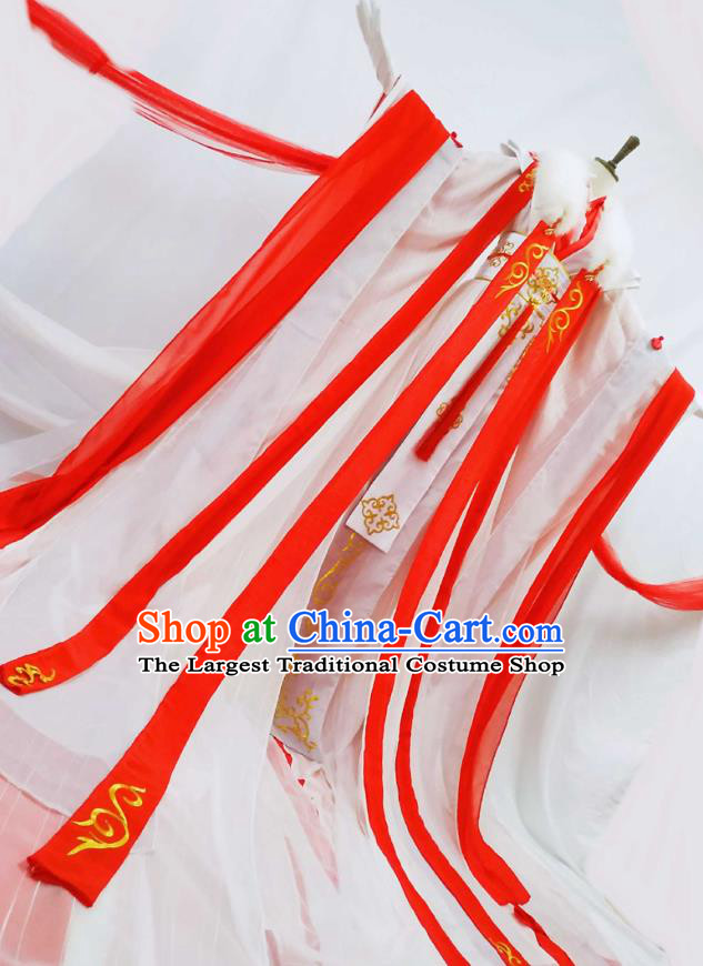 Top Chinese Cosplay Crown Prince Xie Lian Costume Ancient Swordsman Noble Childe Clothing for Men