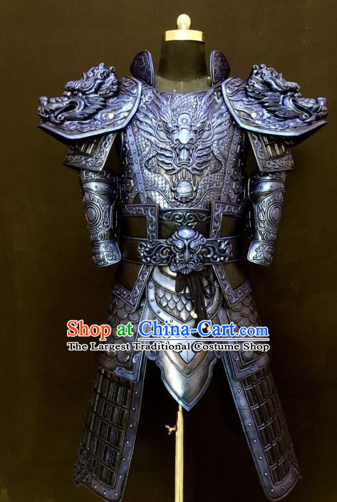 Traditional Chinese Cosplay Han Dynasty Military Officer Body Armor Outfits Ancient Film General Armour Costumes