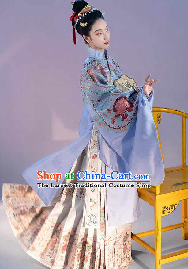 China Traditional Ming Dynasty Noble Countess Historical Clothing Ancient Imperial Consort Costumes for Woman