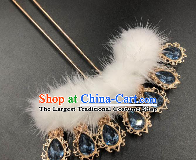 China Traditional Hair Accessories Ming Dynasty Princess Hair Stick Ancient Hanfu Crystal Hairpin