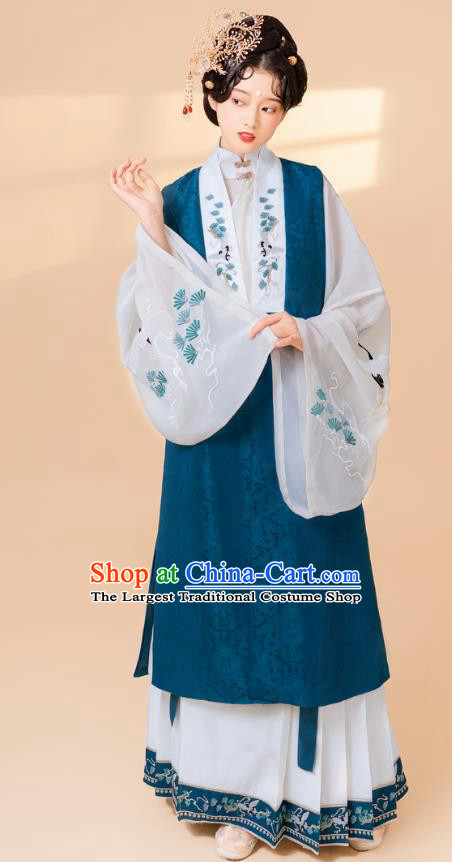 China Traditional Embroidered Hanfu Dress Court Concubine Clothing Ancient Ming Dynasty Historical Costumes