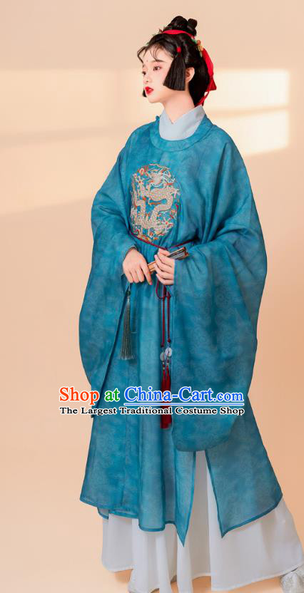 China Ancient Ming Dynasty Court Maid Historical Costumes Traditional Embroidered Hanfu Dress Clothing
