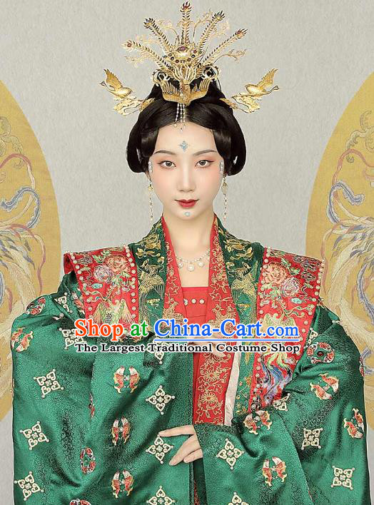 China Ancient Noble Woman Hanfu Dress Traditional Song Dynasty Wedding Historical Clothing Complete Set