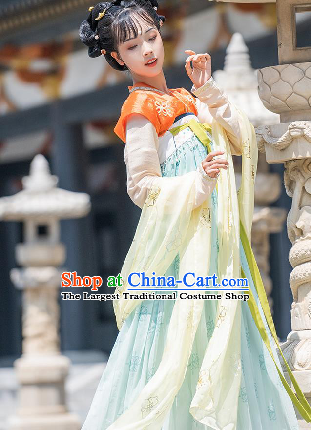 China Ancient Palace Infanta Hanfu Dress Traditional Tang Dynasty Royal Princess Tai Ping Historical Clothing