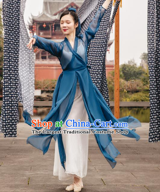 Traditional China Classical Dance Outfits Martial Arts Stage Show Costumes Fan Dance Clothing