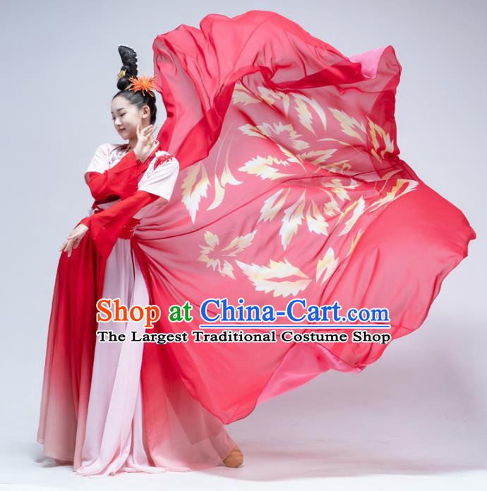Traditional China Court Dance Stage Performance Costume Classical Dance Red Hanfu Dress