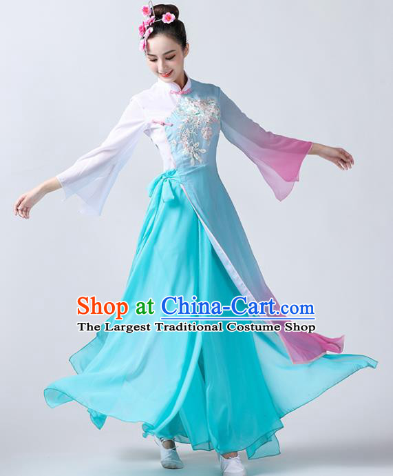 China Traditional Fan Dance Stage Performance Costume Classical Dance Clothing Spring Festival Gala Dance Outfits