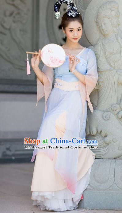 Traditional China Han Dynasty Court Dance Costume Classical Dance Stage Performance Hanfu Dress
