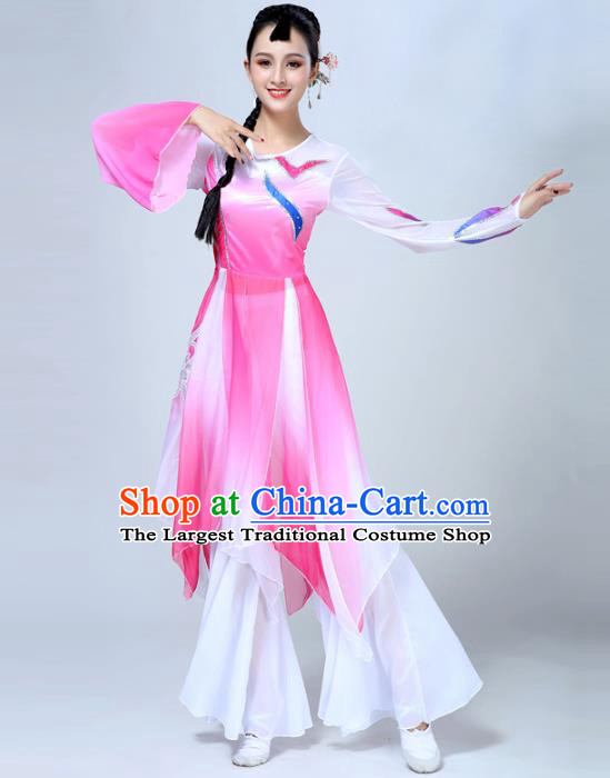 China Traditional Classical Dance Stage Show Costume Female Group Dance Outfits