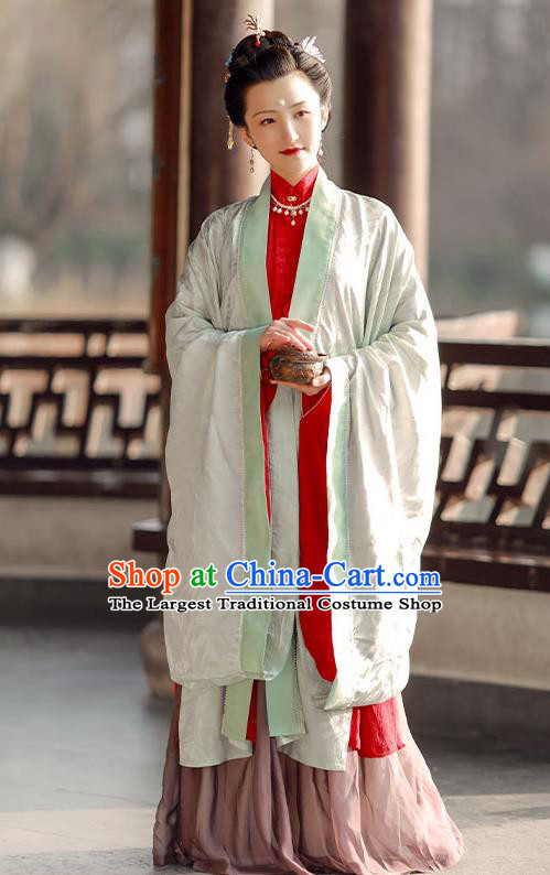 China Ancient Imperial Mistress Hanfu Costumes Traditional Ming Dynasty Noble Countess Historical Clothing