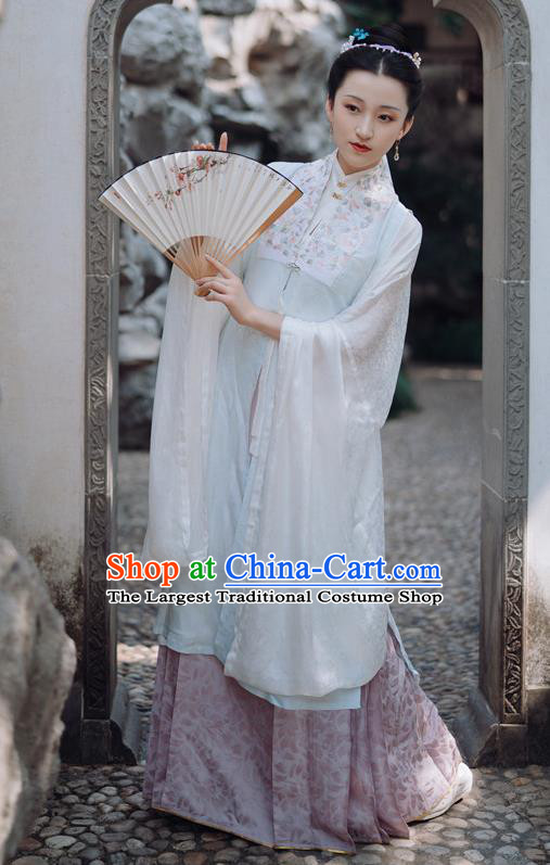 China Ancient Royal Countess Costumes Traditional Court Hanfu Dress Ming Dynasty Imperial Mistress Historical Clothing