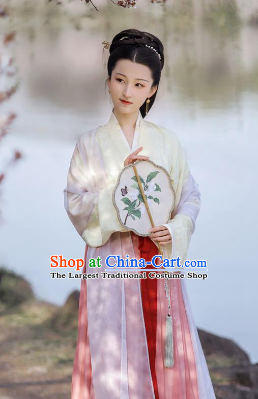China Ancient Noblewoman Clothing Traditional Hanfu Dress Song Dynasty Royal Countess Historical Costume