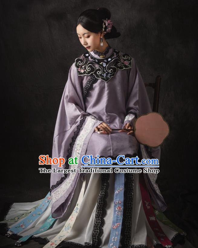China Ancient Royal Countess Hanfu Dress Traditional Apparels Clothing Ming Dynasty Noble Concubine Historical Costumes