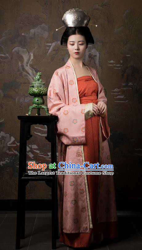 China Traditional Song Dynasty Court Lady Historical Clothing Ancient Imperial Consort Hanfu Costumes for Women