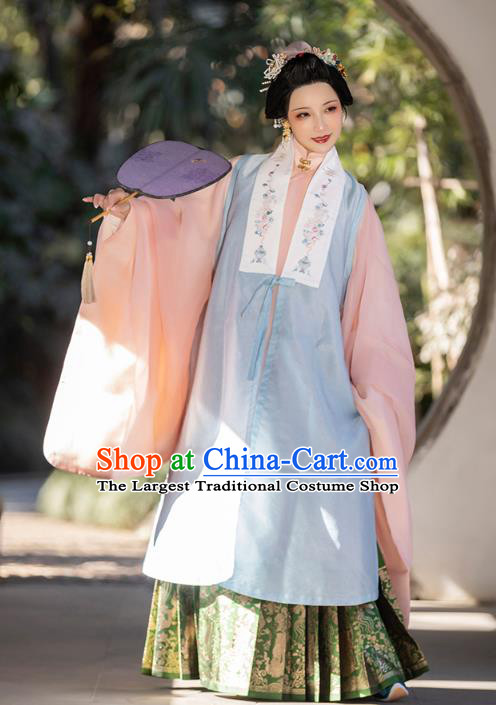 China Ming Dynasty Imperial Consort Historical Clothing Ancient Court Beauty Costumes for Women