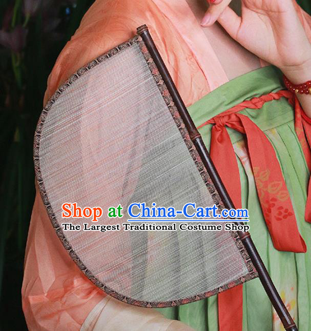 China Handmade Silk Classical Palace Fan Traditional Jin Dynasty Court Hanfu Fan