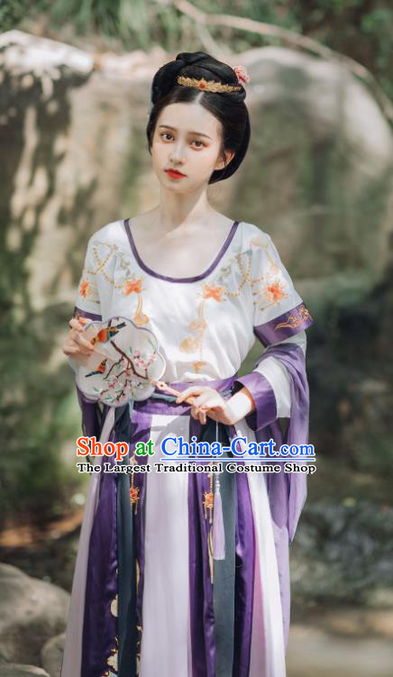 China Ancient Court Princess Replica Clothing Traditional Tang Dynasty Palace Lady Hanfu Dress