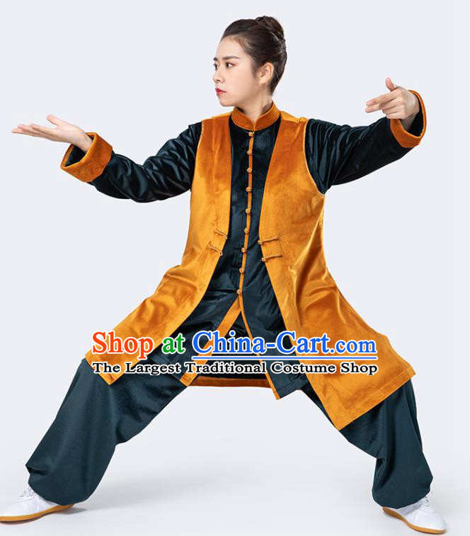 China Winter Woman Kong Fu Training Uniforms Traditional Martial Arts Competition Costumes