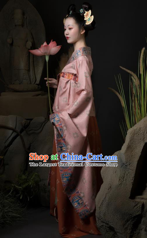 China Ancient Royal Princess Hanfu Dress Traditional Southern and Northern Dynasties Court Lady Historical Costumes Complete Set