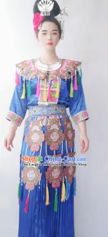 Chinese Guizhou Miao Ethnic Folk Dance Costumes Traditional Miao National Minority Stage Performance Clothing
