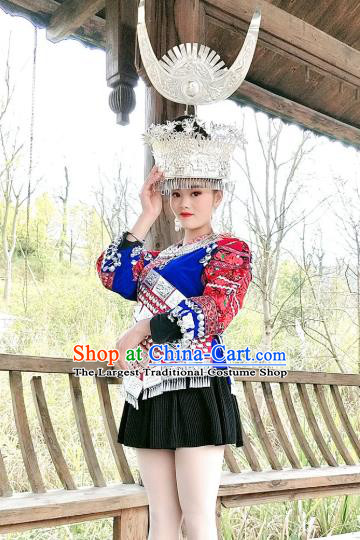 Chinese Guizhou Ethnic Stage Performance Costumes Traditional Miao National Minority Woman Clothing