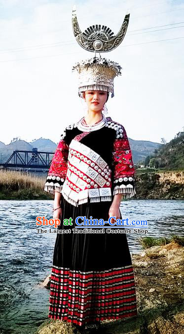 Chinese Dong Ethnic Stage Performance Costumes Traditional Miao National Minority Folk Dance Clothing