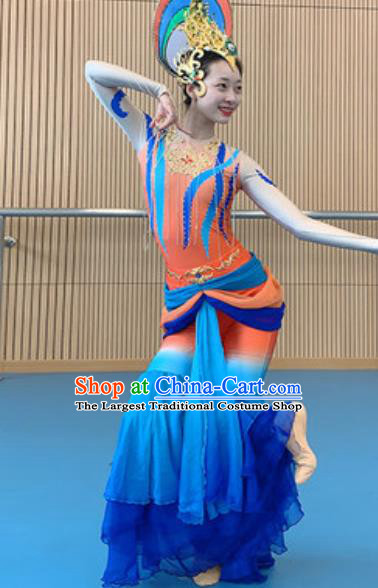 China Dunhuang Flying Apsaras Dance Costume Classical Dance Stage Performance Outfits