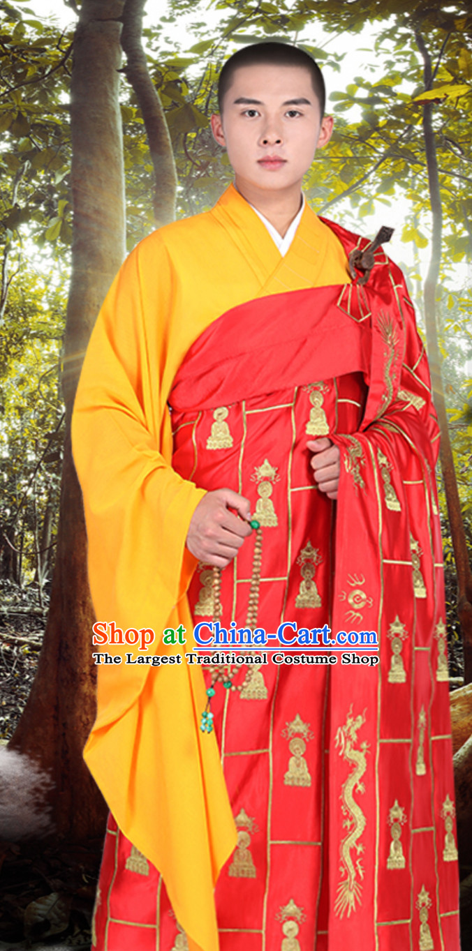 Chinese ClassicKesa Kasaya Buddhist Monk Dresses Qian Fuo Yi Monk Garment Full Set