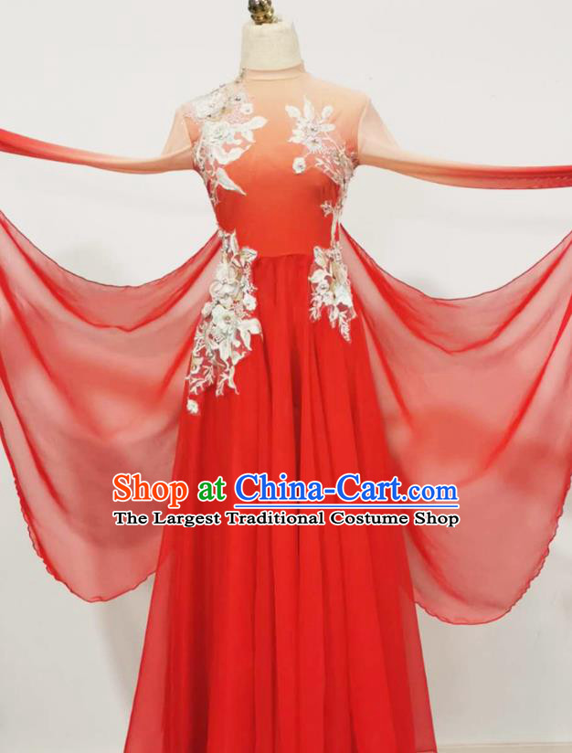 Chinese Opening Dance Beauty Dance Performance Clothing Classical Dance Performance Red Dress