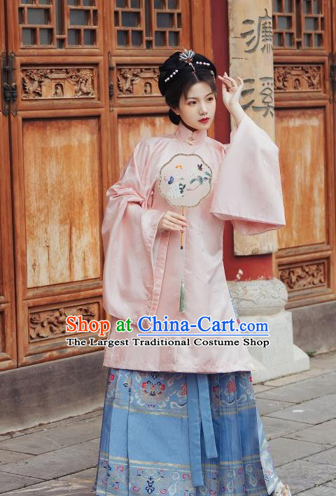 China Ancient Noble Countess Hanfu Costumes Traditional Ming Dynasty Imperial Concubine Clothing