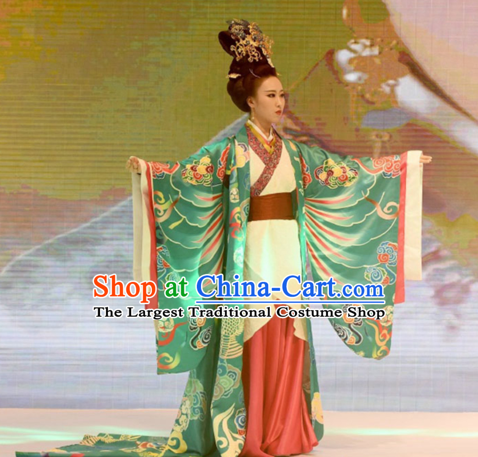 Top Chinese Imperial Green Hanfu Dresses Hanfu Garment for Women