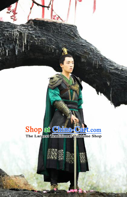China Ancient King Armor Costumes Drama Oh My Emperor Majesty Beitang Yi Replica Clothing