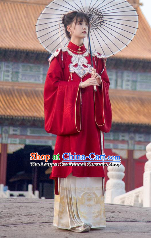 Traditional China Ming Dynasty Court Lady Historical Clothing Ancient Palace Beauty Hanfu Dress