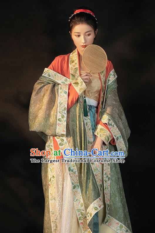 China Traditional Song Dynasty Imperial Concubine Historical Clothing Ancient Court Woman Hanfu Dress Apparels