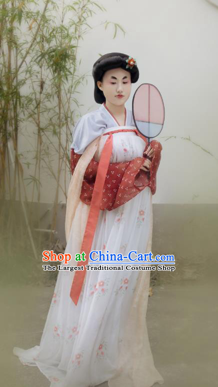 China Ancient Palace Lady Hanfu Dress Traditional Tang Dynasty Court Maid Historical Costumes Complete Set
